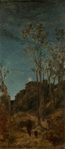 Art Prints of The Four Times a Day, Night by Camille Corot