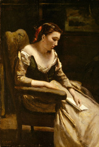 Art Prints of The Letter by Camille Corot