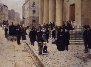 Art Prints of The Church of Saint Philippe de Roule, Paris by Jean Beraud