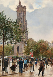 Art Prints of Tower of Saint Jacques by Jean Beraud