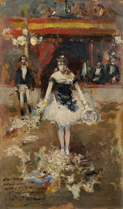 Art Prints of Welcoming Dancer to the Circus by Jean Beraud