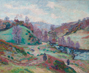 Art Prints of Le Pont Charraud Creuse by Jean-Baptiste-Armand Guillaumin