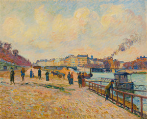 Art Prints of Quay Saint-Bernard Paris by Jean-Baptiste-Armand Guillaumin