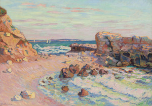 Art Prints of Rising Tide Saint Palais by Jean-Baptiste-Armand Guillaumin