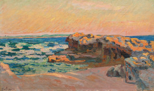Art Prints of Rocks in Saint Palace by Jean-Baptiste-Armand Guillaumin