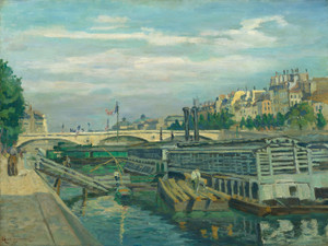 Art Prints of The Bridge of Louis Phlippe by Jean-Baptiste-Armand Guillaumin