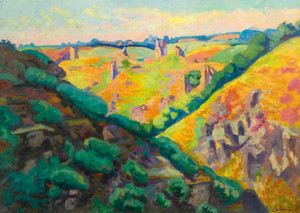 Art Prints of The Ruins of Castle Crozant by Jean-Baptiste-Armand Guillaumin