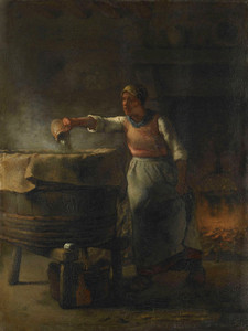 Art Prints of The Washer by Jean-Francois Millet