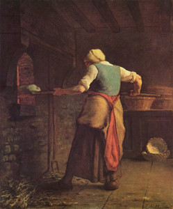 Art Prints of Woman Baking Bread by Jean-Francois Millet