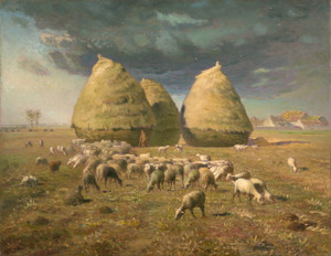 Art Prints of Haystacks, Autumn by Jean-Francois Millet