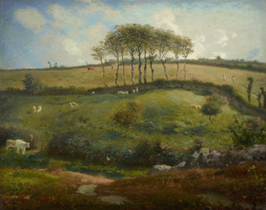 Art Prints of Pasture near Cherbourg, Normandy by Jean-Francois Millet