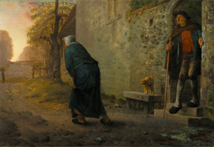 Art Prints of Waiting by Jean-Francois Millet