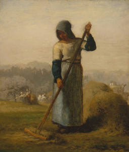 Art Prints of Woman with a Rake by Jean-Francois Millet