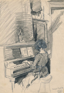 Art Prints of Virginia at the Piano by Jerome Myers