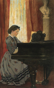 Art Prints of The Great Drawing Room was Haunted by a Spirit by Jessie Willcox Smith