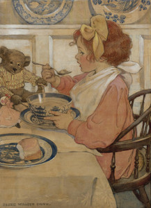 Art Prints of Then the Epicure by Jessie Willcox Smith