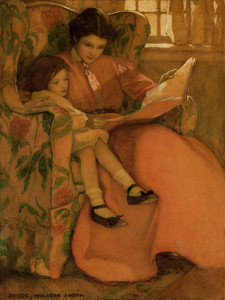 Art Prints of A Rainy Day by Jessie Willcox Smith