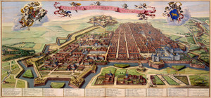 Art Prints of City of Turin, 1682 (186) by Joan Blaue