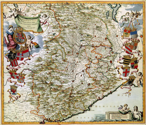 Art Prints of Map of Piemonte, 1682 (485) by Joan Blaue