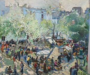 Art Prints of Pau Casals Square, Vilanova by Joaquim Mir