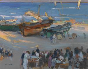 Art Prints of The Day's Catch, Vilanova by Joaquim Mir