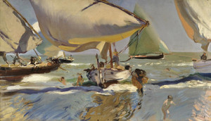 Art Prints of Boats on the Beach II by Joaquin Sorolla y Bastida