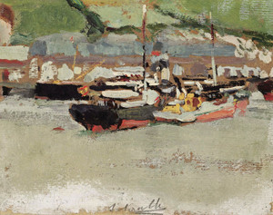 Art Prints of Boats in a Harbor by Joaquin Sorolla y Bastida