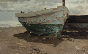 Art Prints of Boats on the Beach III by Joaquin Sorolla y Bastida