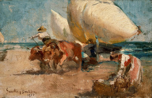 Art Prints of Beach Scene by Joaquin Sorolla y Bastida