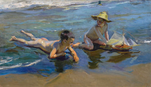 Art Prints of Children on the Beach by Joaquin Sorolla y Bastida