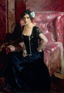 Art Prints of Clotilde in Evening Dress by Joaquin Sorolla y Bastida