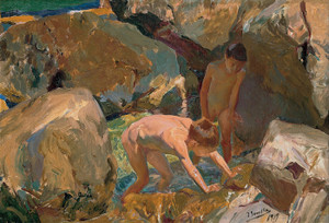 Art Prints of Children Looking for Shellfish by Joaquin Sorolla y Bastida
