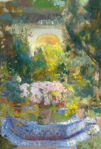 Art Prints of Courtyard of the Casa Sorolla by Joaquin Sorolla y Bastida
