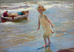 Art Prints of Girl on the Beach by Joaquin Sorolla y Bastida