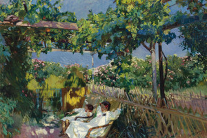 Art Prints of Nap in the Garden by Joaquin Sorolla y Bastida