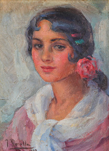 Art Prints of Portrait of a Woman by Joaquin Sorolla y Bastida