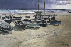 Art Prints of Stormy Day in Valencia by Joaquin Sorolla y Bastida