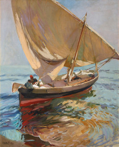 Art Prints of Setting Out to Sea, Valencia by Joaquin Sorolla y Bastida