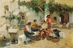 Art Prints of Selling Melons by Joaquin Sorolla y Bastida