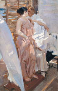 Art Prints of The Pink Robe after the Bath by Joaquin Sorolla y Bastida