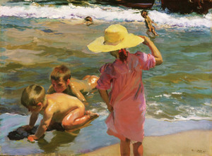 Art Prints of Young Amphibians by Joaquin Sorolla y Bastida
