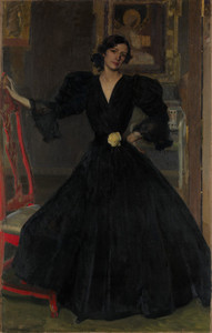 Art Prints of Clotilde Garcia del Castillo in Black by Joaquin Sorolla y Bastida