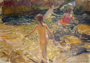 Art Prints of The Bath, Javea by Joaquin Sorolla y Bastida