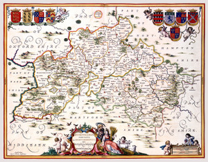 Art Prints of Buckingamshire and Bedfordshire, 1646 (229) by Johannes Jannsonius