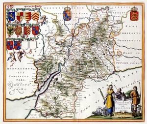 Art Prints of Gloucestershire, 1646 (428) by Johannes Jannsonius