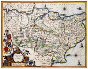 Art Prints of Kent, 1646 (328) by Johannes Jannsonius