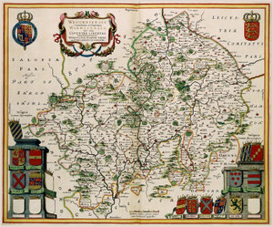 Art Prints of Worcester and Warwikshire, 1646 (131) by Johannes Jannsonius