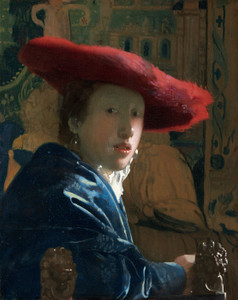 Art Prints of Girl with the Red Hat by Johannes Vermeer