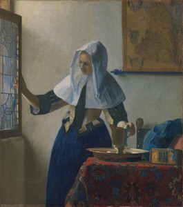 Art Prints of Woman with a Water Pitcher by Johannes Vermeer