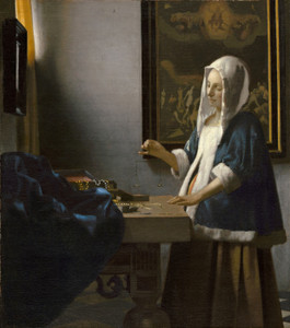 Art Prints of Woman Holding a Balance by Johannes Vermeer